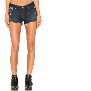 Rag & Bone | Uneven Raw Hem Shorts In Doris 25